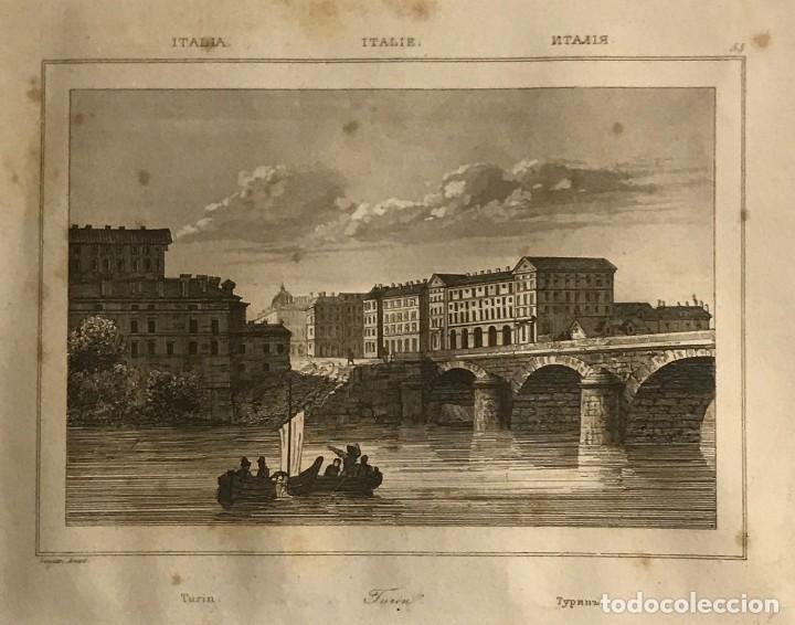 ITALIA. TURIN 24X30 CM (Arte - Grabados - Modernos siglo XIX)
