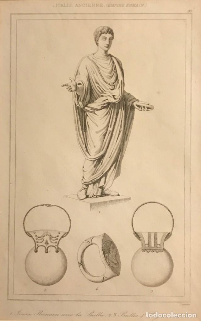 ITALIA. ANCIANO. IMPERIO ROMANO 24X30 CM (Arte - Grabados - Modernos siglo XIX)