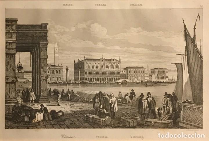 ITALIA. VENECIA 24X30 CM (Arte - Grabados - Modernos siglo XIX)