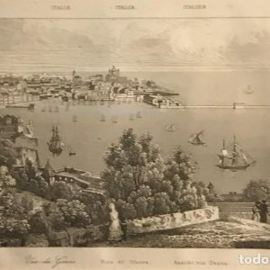 Italia. Vista de Genova 24x30 cm
