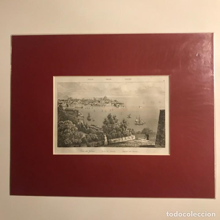 Arte: Italia. Vista de Genova 24x30 cm - Foto 2 - 152654442