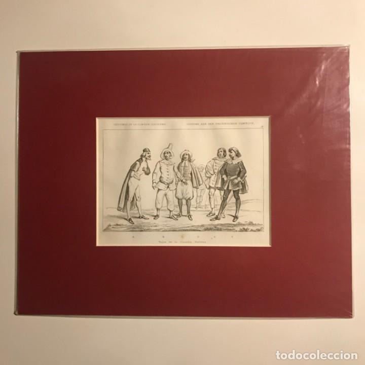 Arte: Italia. Trajes de la comedia italiana 24x30 cm - Foto 2 - 152654734