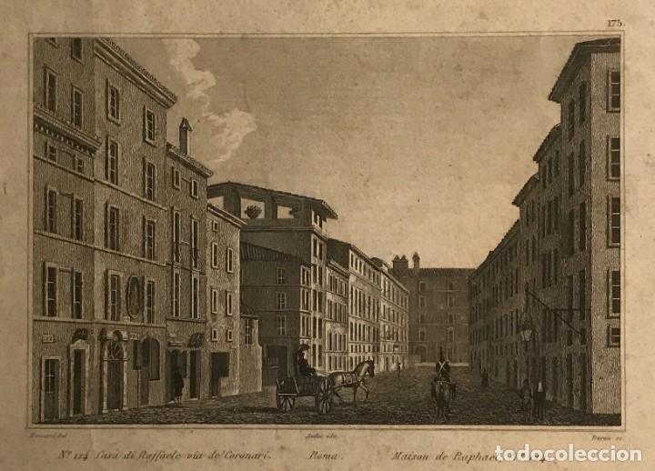 ITALIA. ROMA. CASA DI RAFFAELLO, VIA DE CORONARI 27,6X17,8 CM (Arte - Grabados - Modernos siglo XIX)