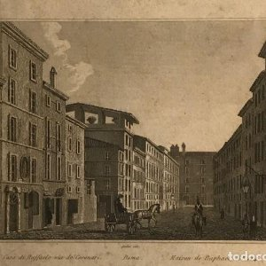 Italia. Roma. Casa di Raffaello, Via de Coronari 27,6x17,8 cm