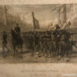1859 Italia. Retour de l'Armée d'italie. 14 Aout 18,2x15 cm