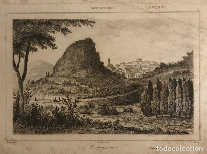 ITALIA. CERDEÑA. CRODONOHANO 20,5X12,7 CM (Arte - Grabados - Modernos siglo XIX)