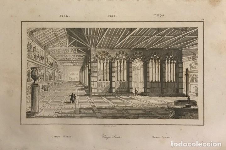 ITALIA. PISA. CAMPO SANTO 13X20,7 CM (Arte - Grabados - Modernos siglo XIX)