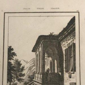 Italia. Casa de Petrarca en Argua 12,5x20,2 cm