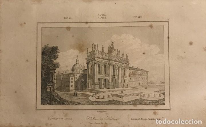 ITALIA. ROMA. SAN JUAN DE LATRAN 13,2X20,6 CM (Arte - Grabados - Modernos siglo XIX)