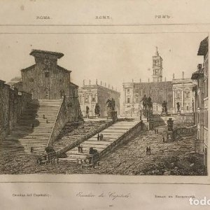 Italia. Roma. Escaleras del Capitolio 13,2x20,6 cm