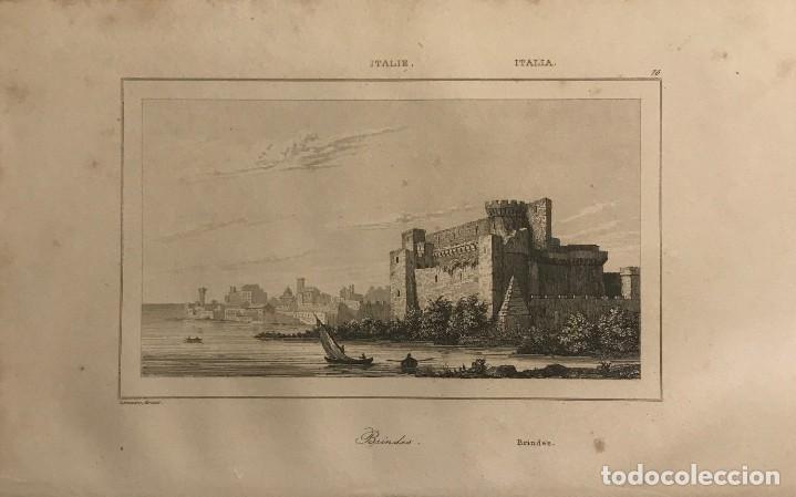 ITALIA. BRINDES 13,2X20,5 CM (Arte - Grabados - Modernos siglo XIX)