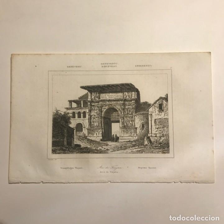 Arte: Italia. Benevento. Arco de Trajano 13,2x20,5 cm - Foto 2 - 152657818