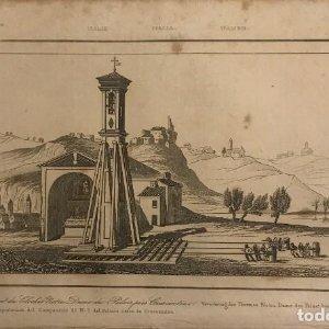 Italia. Transportación del Campamento de N. S. del Palacio cerca de Crescentino 13,2x20,5 cm