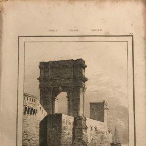 Italia. Arco de Trajano en Ancona 13,2x20,5 cm