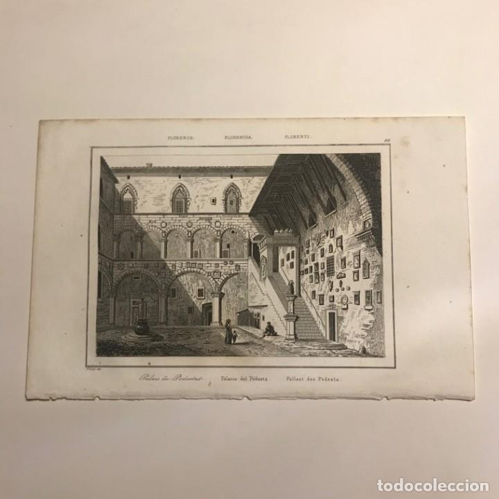 Arte: Italia. Florencia. Palacio del Podestá 13,2x20,5 cm - Foto 2 - 152658822