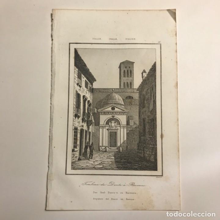 Arte: Italia. Sepulcro del Dante en Ravenna13,2x20,5 cm - Foto 2 - 152658958