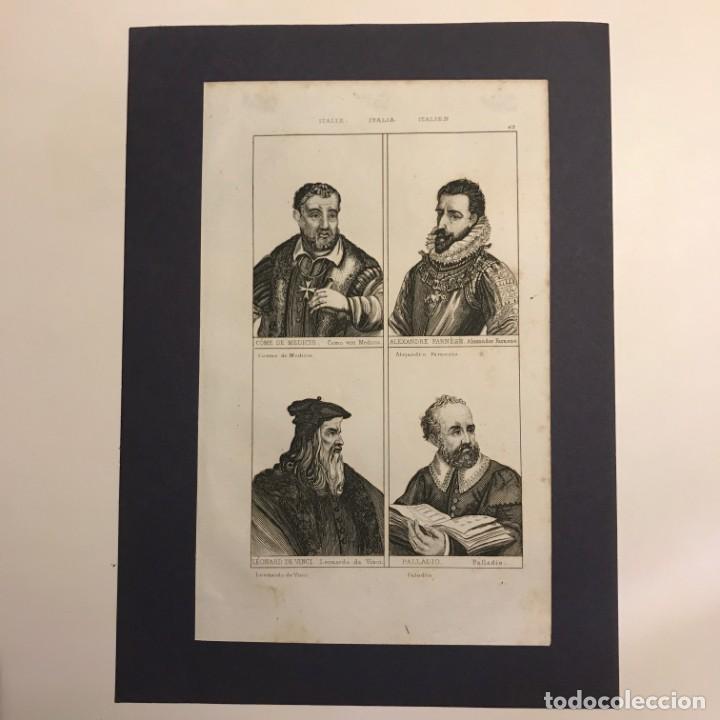 Arte: Italia. Cosme de Medicis, Alejandro Farnesio, Leonardo Da Vinci y Palladio 25x18 cm - Foto 2 - 152659974