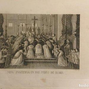 Italia. Roma. Misa Pontificia en San Pablo de Roma 22,9x15,5 cm