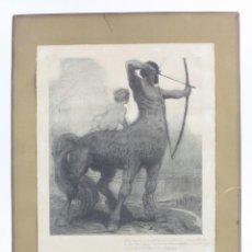 Arte: JOSÉ PEDRAZA OSTOS, CENTAURO, GRABADO CON DEDICATORIA, 1920, MADRID. 31,5X25,5CM. Lote 152736938