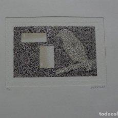 Arte: LUIS GORDILLO, PRECIOSO GRABADO CON COLOR FIRMADO. Lote 190066452