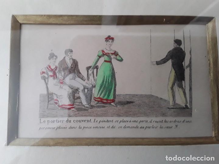 Arte: Cuatro grabados con escenas de juegos de sociedad con un trasfondo erótico. Iluminados. Franceses - Foto 5 - 153074738