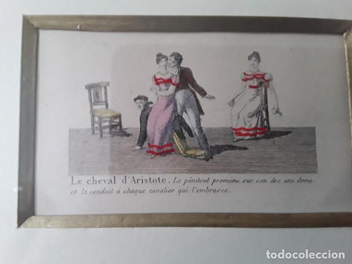 Arte: Cuatro grabados con escenas de juegos de sociedad con un trasfondo erótico. Iluminados. Franceses - Foto 9 - 153074738