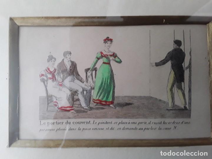 Arte: Cuatro grabados con escenas de juegos de sociedad con un trasfondo erótico. Iluminados. Franceses - Foto 18 - 153074738