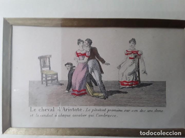 Arte: Cuatro grabados con escenas de juegos de sociedad con un trasfondo erótico. Iluminados. Franceses - Foto 20 - 153074738