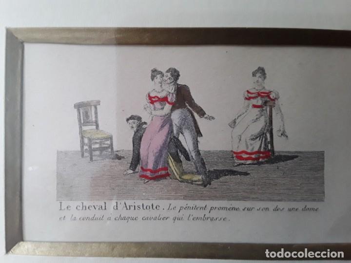 Arte: Cuatro grabados con escenas de juegos de sociedad con un trasfondo erótico. Iluminados. Franceses - Foto 21 - 153074738