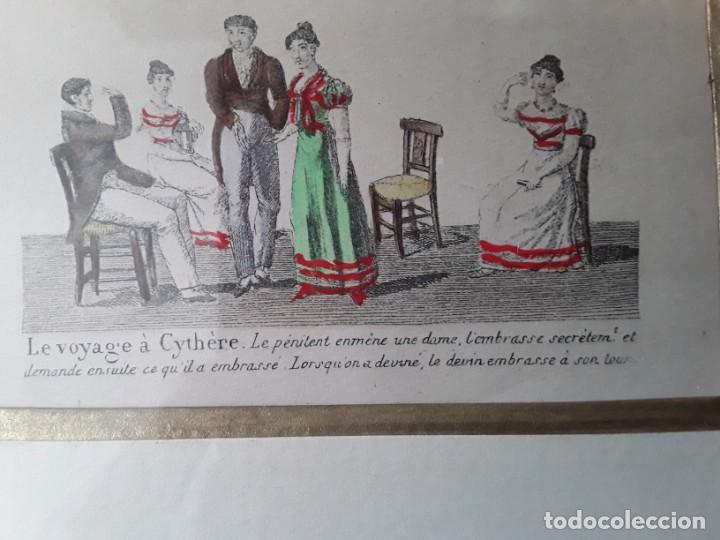 Arte: Cuatro grabados con escenas de juegos de sociedad con un trasfondo erótico. Iluminados. Franceses - Foto 26 - 153074738