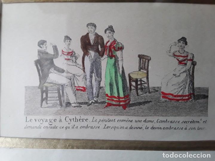 Arte: Cuatro grabados con escenas de juegos de sociedad con un trasfondo erótico. Iluminados. Franceses - Foto 27 - 153074738