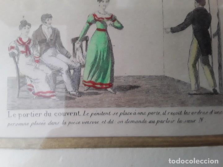Arte: Cuatro grabados con escenas de juegos de sociedad con un trasfondo erótico. Iluminados. Franceses - Foto 28 - 153074738