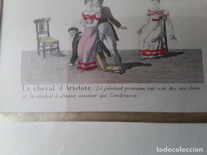 Arte: Cuatro grabados con escenas de juegos de sociedad con un trasfondo erótico. Iluminados. Franceses - Foto 29 - 153074738