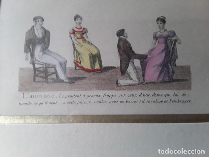 Arte: Cuatro grabados con escenas de juegos de sociedad con un trasfondo erótico. Iluminados. Franceses - Foto 30 - 153074738