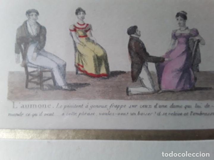 Arte: Cuatro grabados con escenas de juegos de sociedad con un trasfondo erótico. Iluminados. Franceses - Foto 31 - 153074738