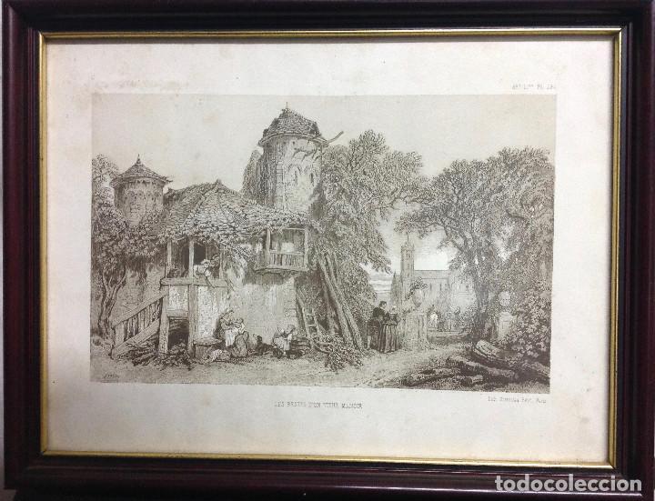 Arte: Grabado francés, Les Restes d un vieux manoir, Lith Stanislas Petit, Paris. (S. XIX). (32 x 25 cm.) - Foto 2 - 153138030