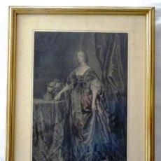 Arte: IMPORTANTE GRABADO REINA ENRIQUETA DE FRANCIA, CA.1715.GRABADOR PIETER VAN GUNST, PINTOR VAN DYCK. Lote 138813474