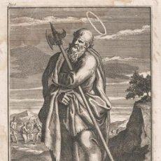 Arte: GRABADO PLANCHA DE COBRE DE 1760, SAN MATEO EL EVANGELISTA, INFOLIO, WILLIAM BURKITT, SIGLO XVIII. Lote 153166154