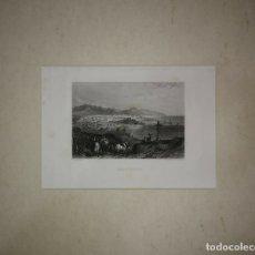Arte: ANTIGUO GRABADO BARCELONE (BARCELONA) PASPARTÚ BISELADO 41X34 PREPARADO PARA ENMARCAR PUERTO PLAYA. Lote 117629491