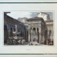 Arte: GRABADO. TÍTULO: GRANADA. AUTOR: ROBERTS, DAVID (1796-1864). Lote 153240366