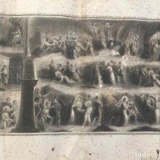 Arte: PEREGRINAJE AL CALVARIO DE JERUSALEN DEL TIEMPO DE NSJC, EL CAMINO DE LA CRUZ EN ACCION. GRAN TAMAÑO. Lote 153318938
