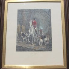 Arte: GRABADO MORNIG. GOING TO LOVERS PAINTED DOUGLAS ENGRAVED HESTER LONDRES FIRMADO 1877 - CAZA CACERIA. Lote 153460342