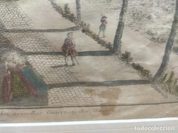 Arte: CUADRO GRABADO FRANCES COLOREADO ENMARCADO SELLADO - Foto 2 - 153484130