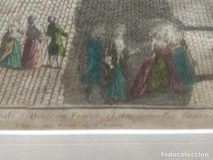 Arte: CUADRO GRABADO FRANCES COLOREADO ENMARCADO SELLADO - Foto 6 - 153484130