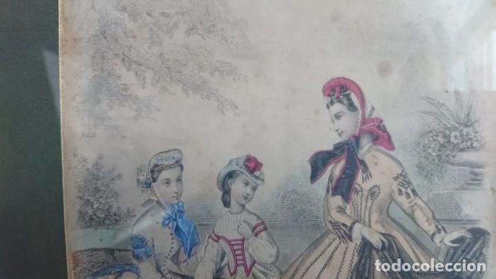 Arte: LOTE 3 GRABADOS EN COLOR 1846 LA MODA ELEGANTE PARIS - Foto 2 - 153577450