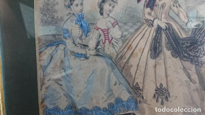 Arte: LOTE 3 GRABADOS EN COLOR 1846 LA MODA ELEGANTE PARIS - Foto 4 - 153577450