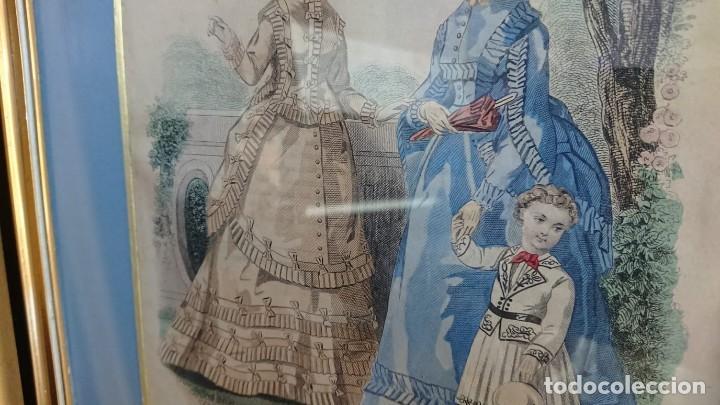 Arte: LOTE 3 GRABADOS EN COLOR 1846 LA MODA ELEGANTE PARIS - Foto 6 - 153577450