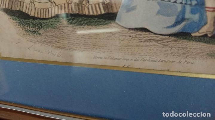 Arte: LOTE 3 GRABADOS EN COLOR 1846 LA MODA ELEGANTE PARIS - Foto 8 - 153577450