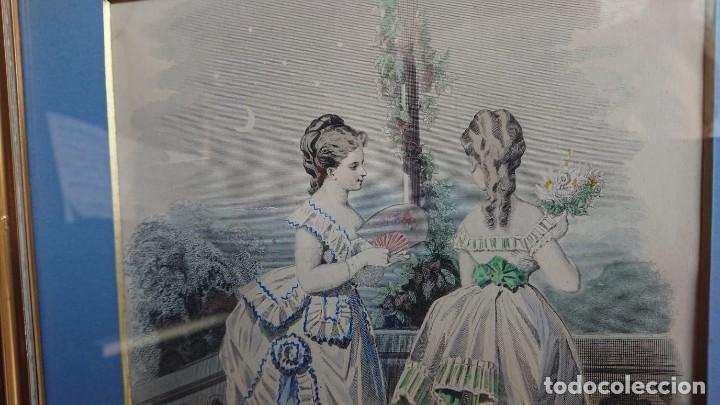 Arte: LOTE 3 GRABADOS EN COLOR 1846 LA MODA ELEGANTE PARIS - Foto 10 - 153577450