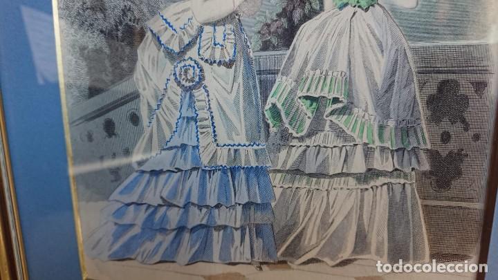 Arte: LOTE 3 GRABADOS EN COLOR 1846 LA MODA ELEGANTE PARIS - Foto 11 - 153577450